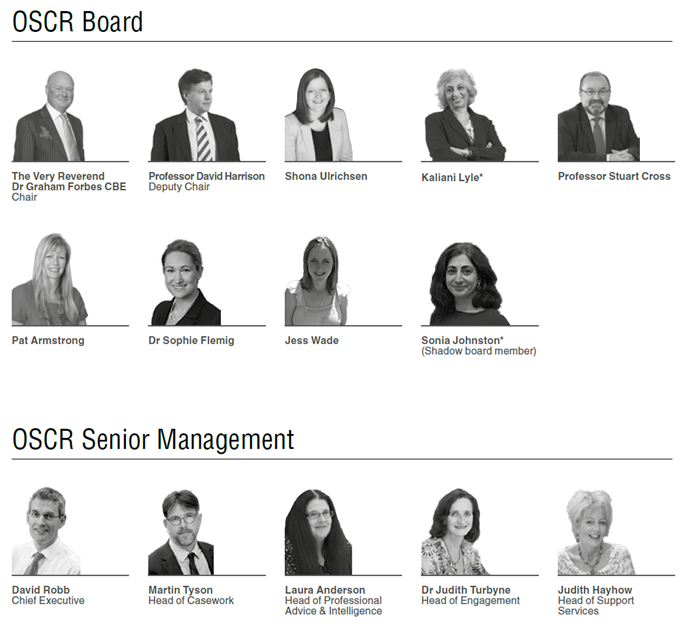 OSCR Management 2016-2017